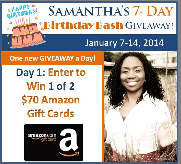 Samantha's 7-Day Birthday Bash Kicks Off the New Year!