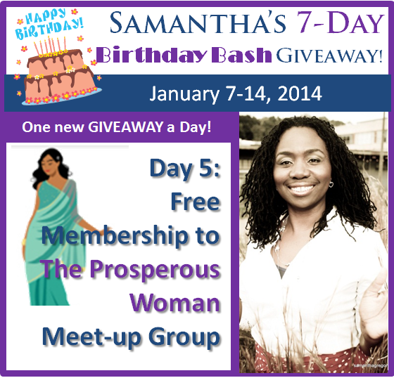 Day 5 – Birthday Bash Giveaway: The Prosperous Woman Membership