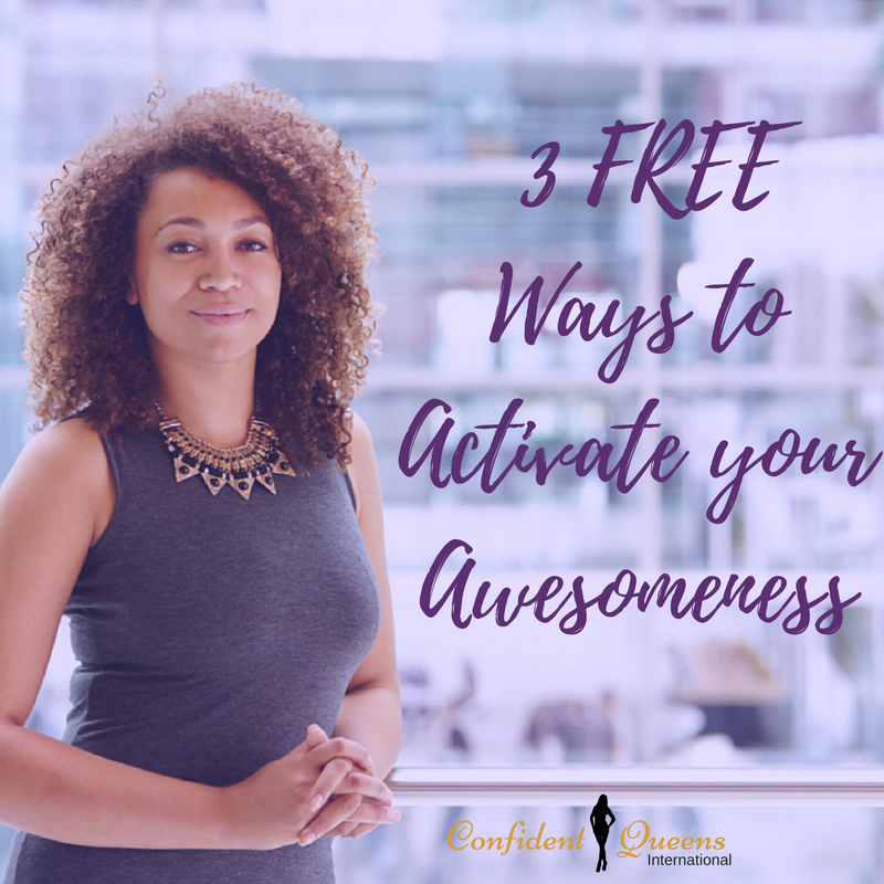 Learn the 3-Step formula to Activate Your Awesomeness free confidence for women training